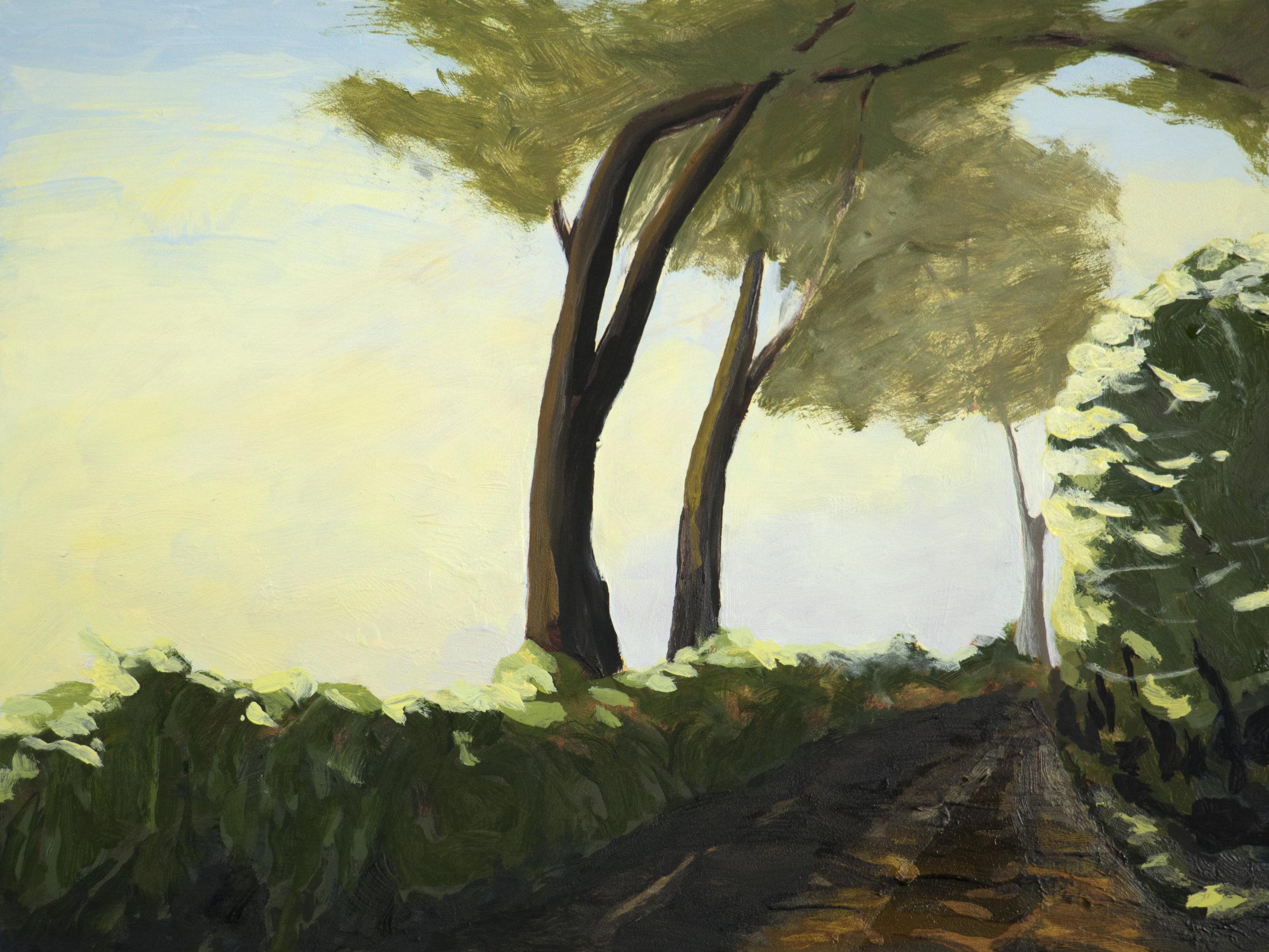 "Aunt Bea's Passage I , 2017, O/Panel, 9 x 12"""