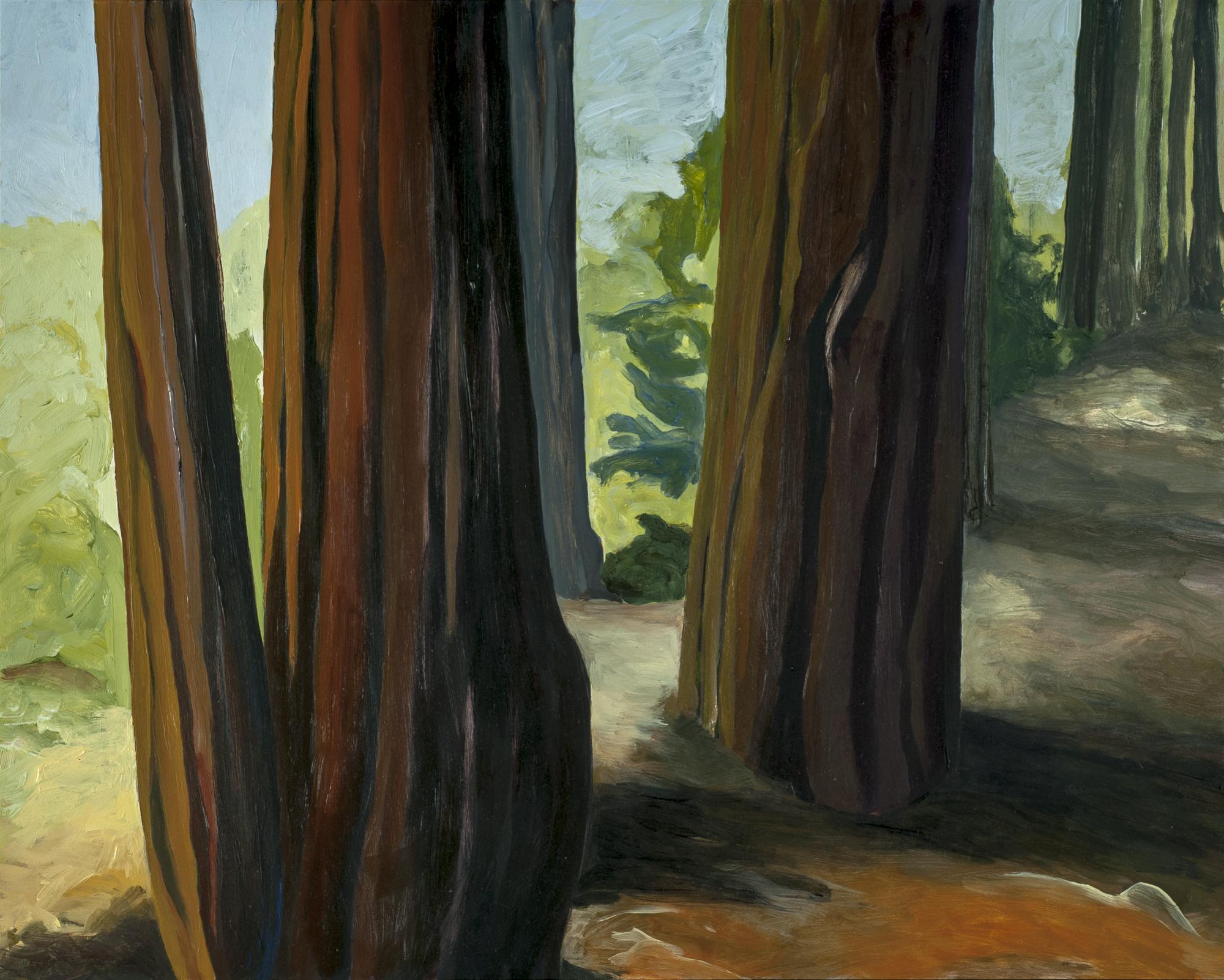 """Redwood Family,  2016, O/Panel, 16"""" x 20"""""""