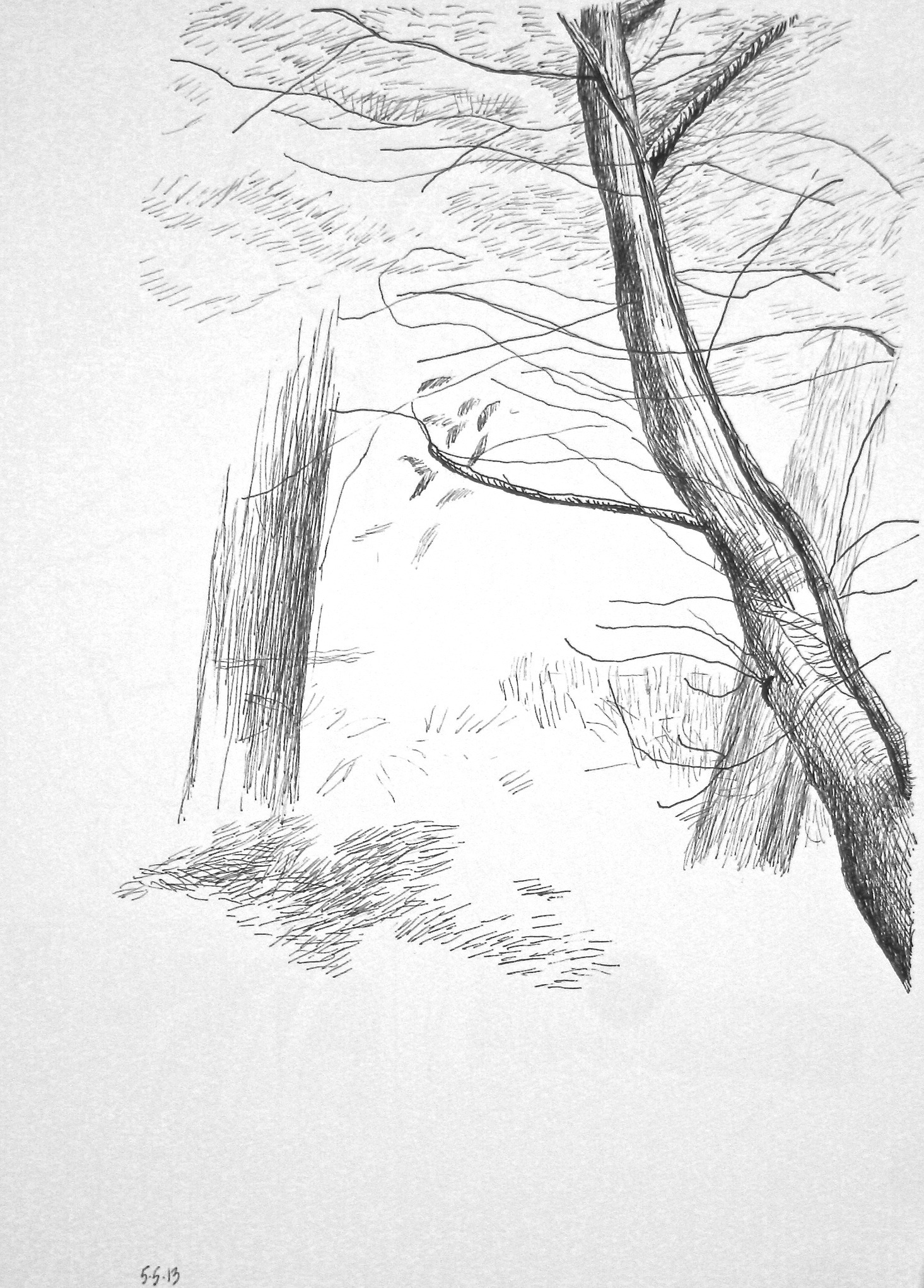 """In the Neighborhood,  2013, Ink/Paper, 13"""" x 10"""""""