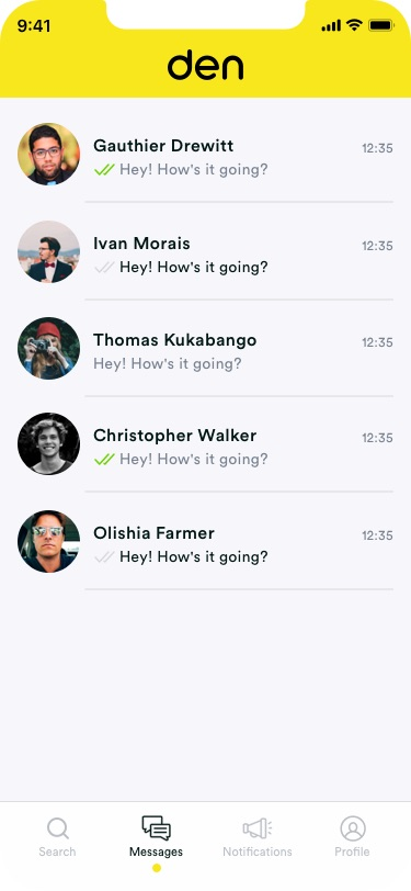 Messaging - Direct message potential roommates to see what they are about, or even talk to your entire class