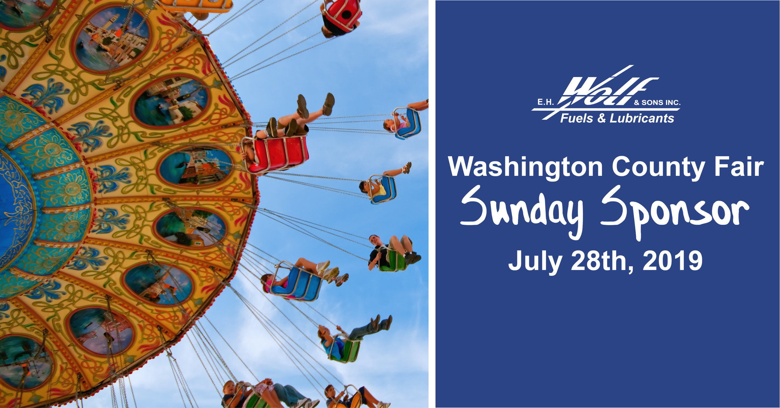 EH Wolf is the Sunday Sponsor for the Washington County Fair