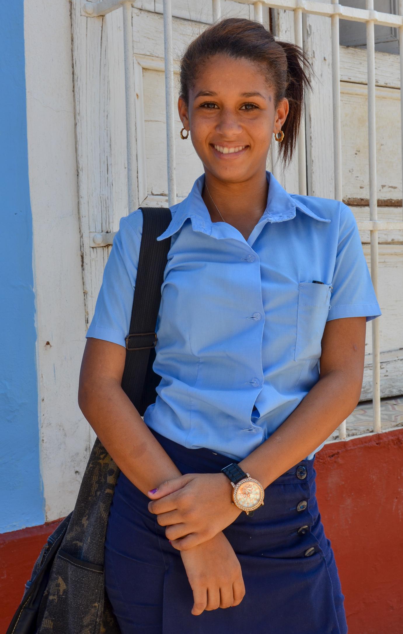 School Girl - Trinidad Cuba 2015.