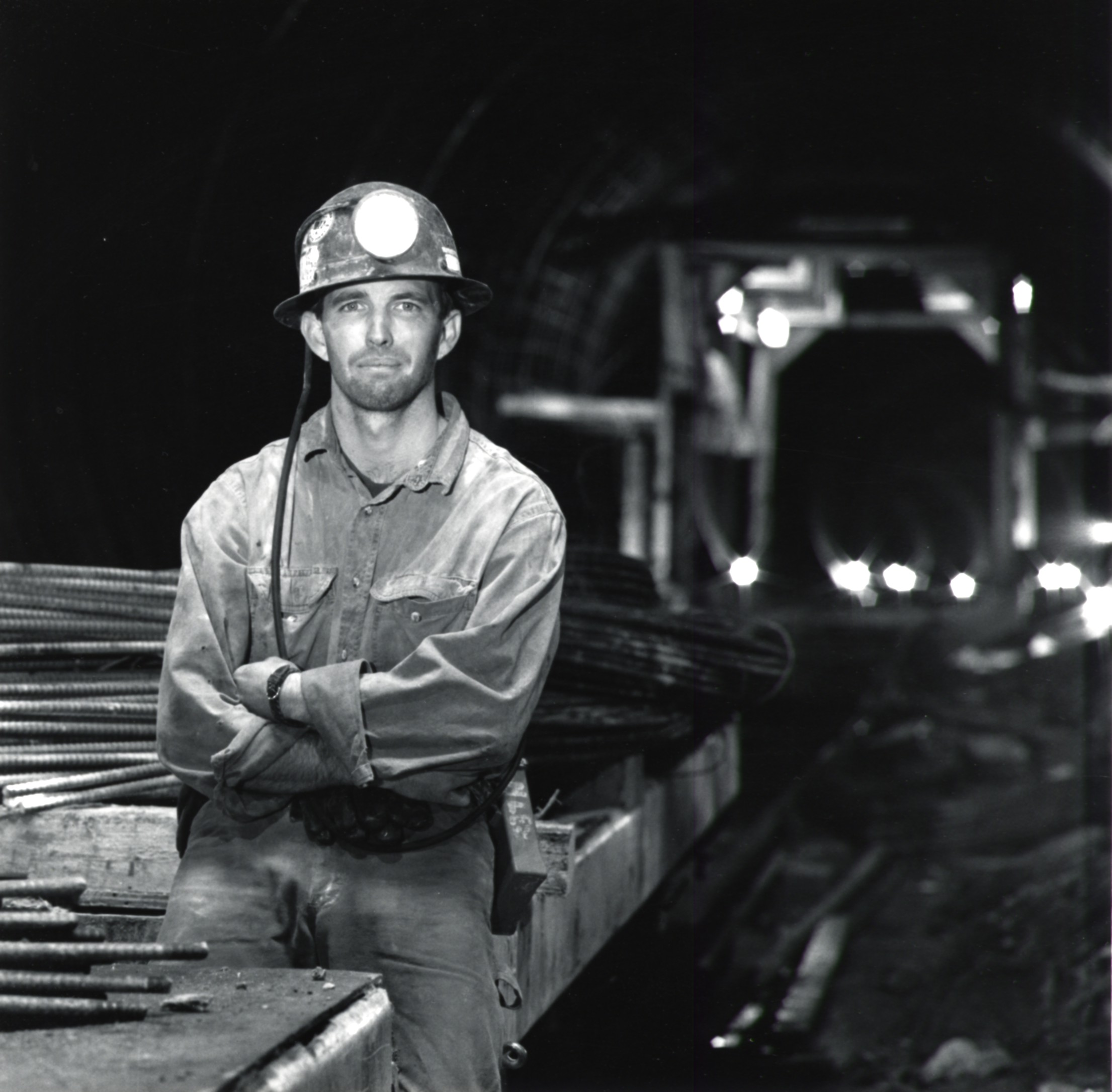 Miner With Arms Crossed - 1990's