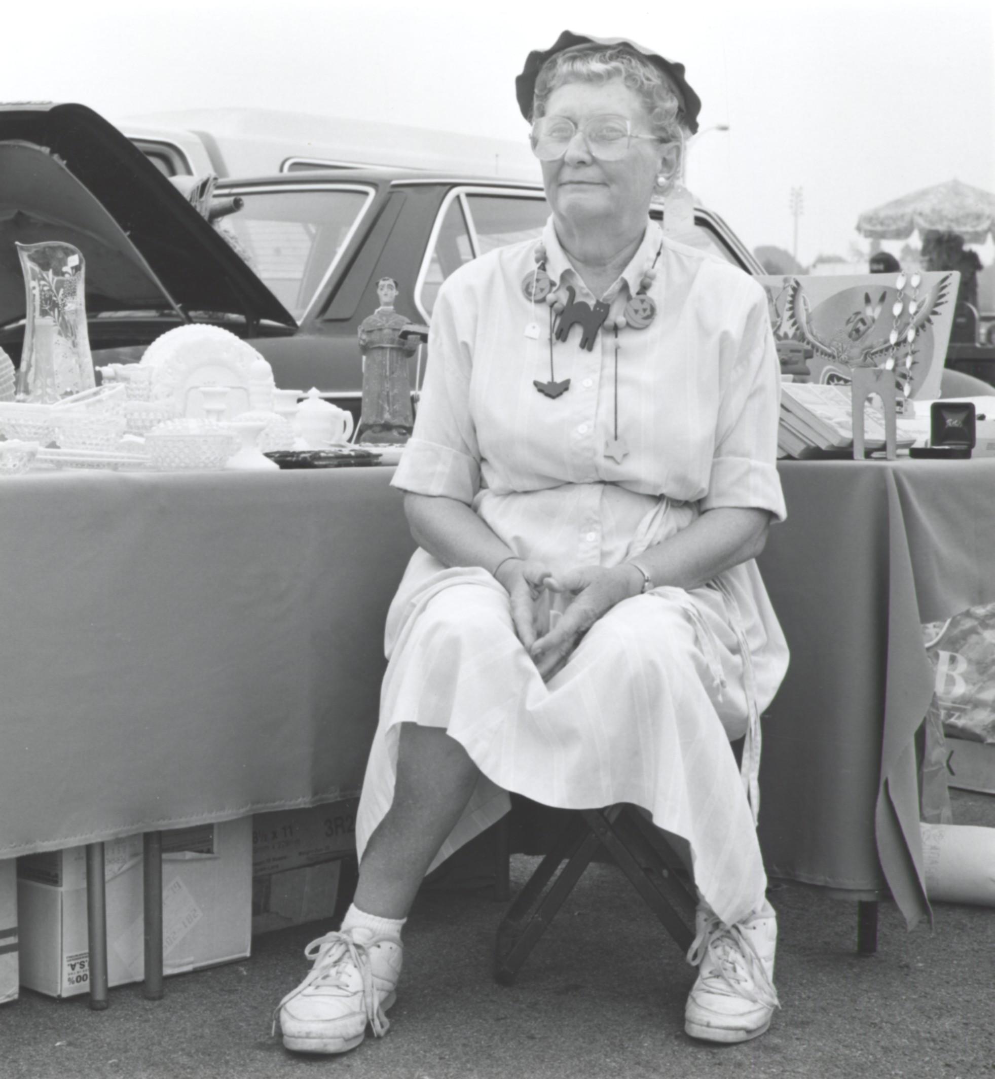 Jeannie Wearing Minnie Pearl Hat - Pasadena CA 1993