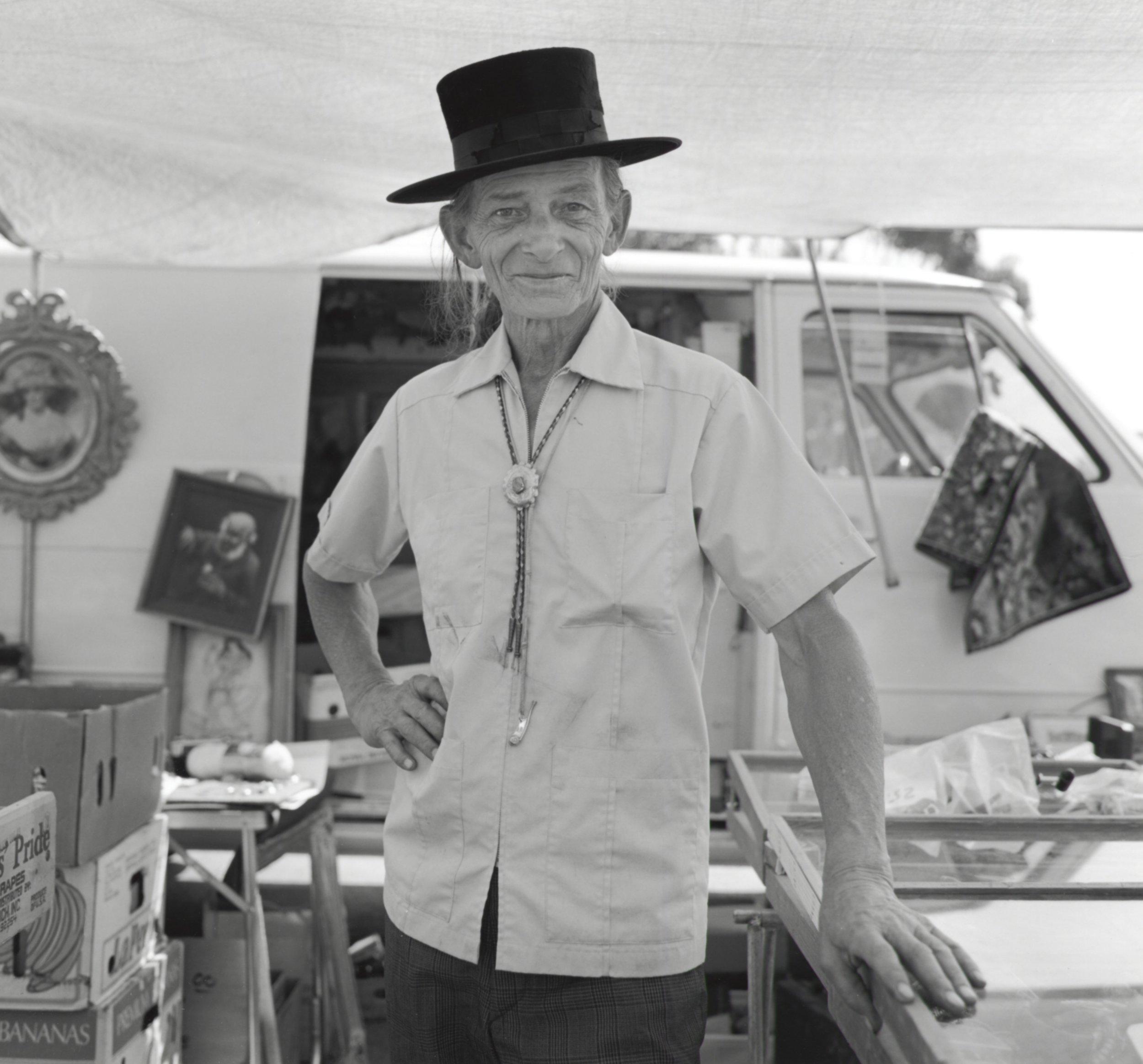 John Woods Wearing Top Hat - Pasadena CA 1991