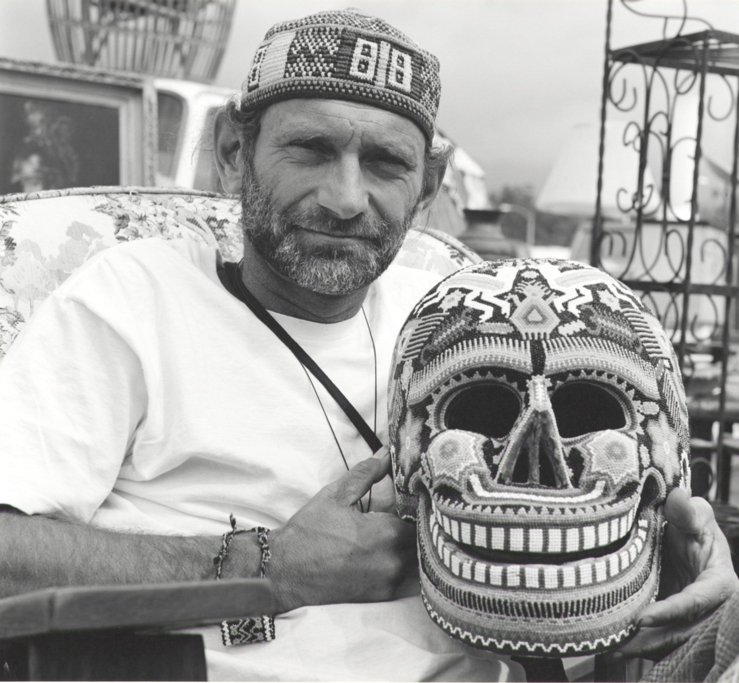 Robert With Beaded Skull - Pasadena CA 1994