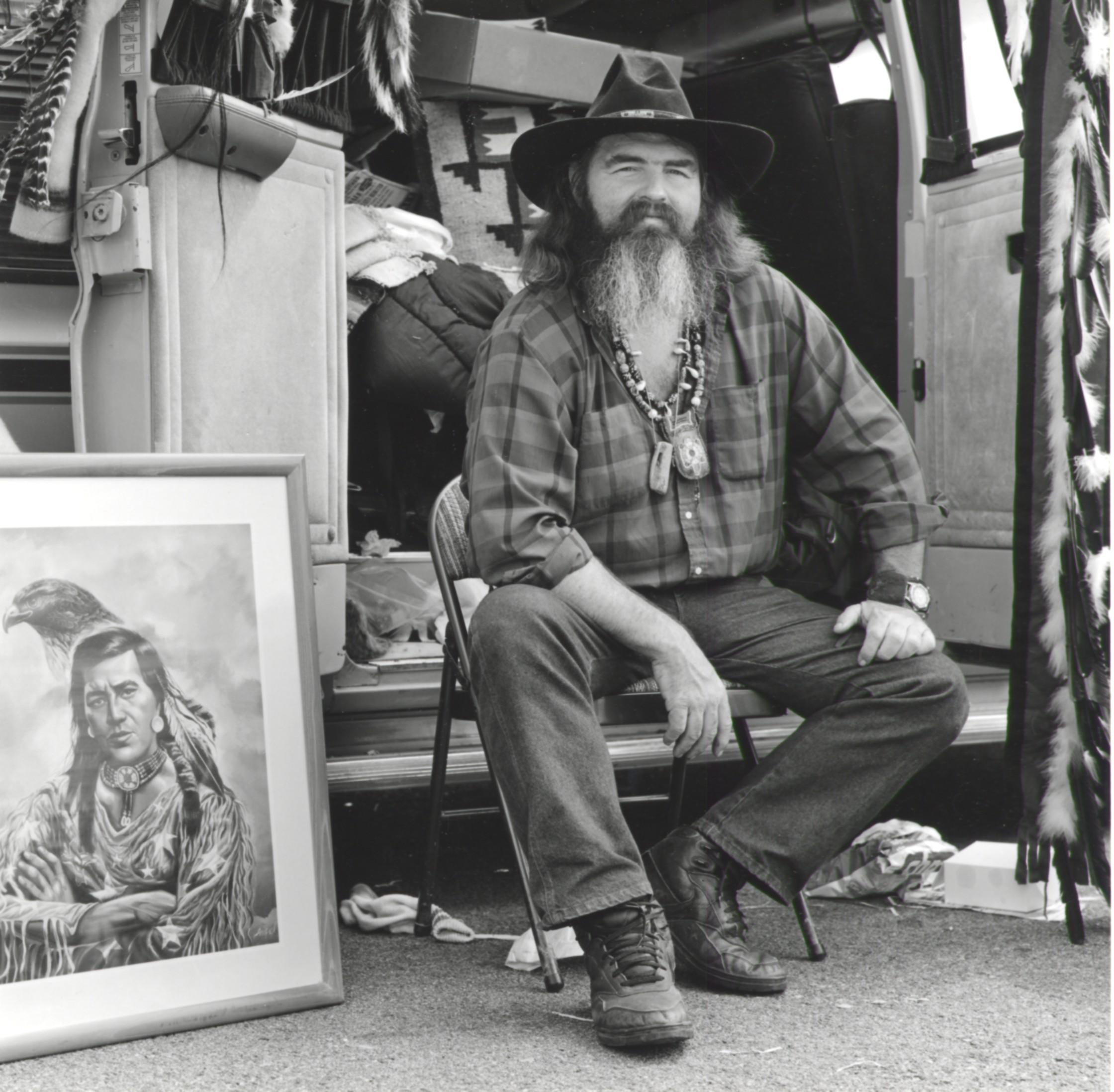 Vendor Selling Western Art - Pasadena CA 1995