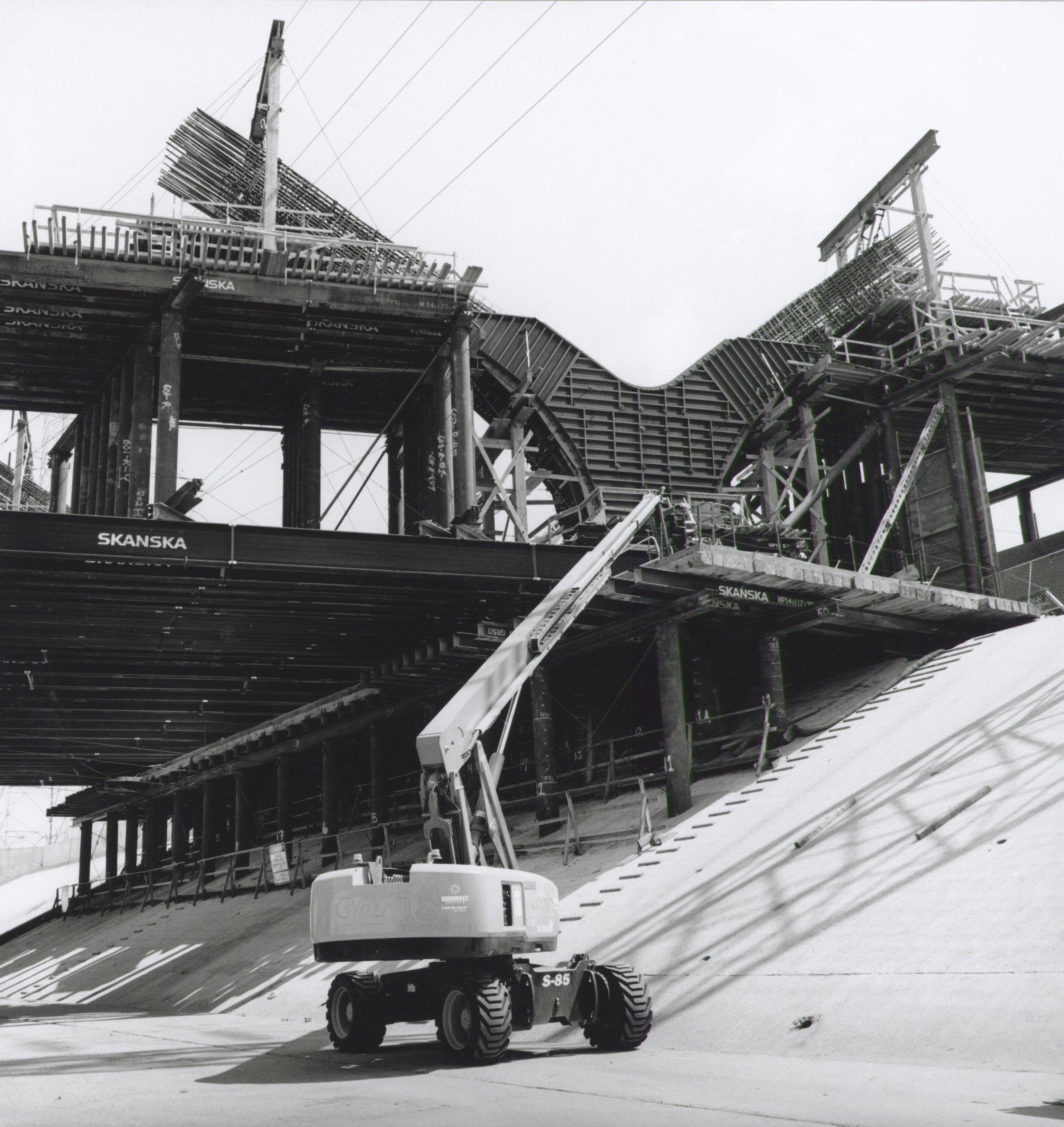 LA Riverbed View of Y Angle Concrete Form - 2018