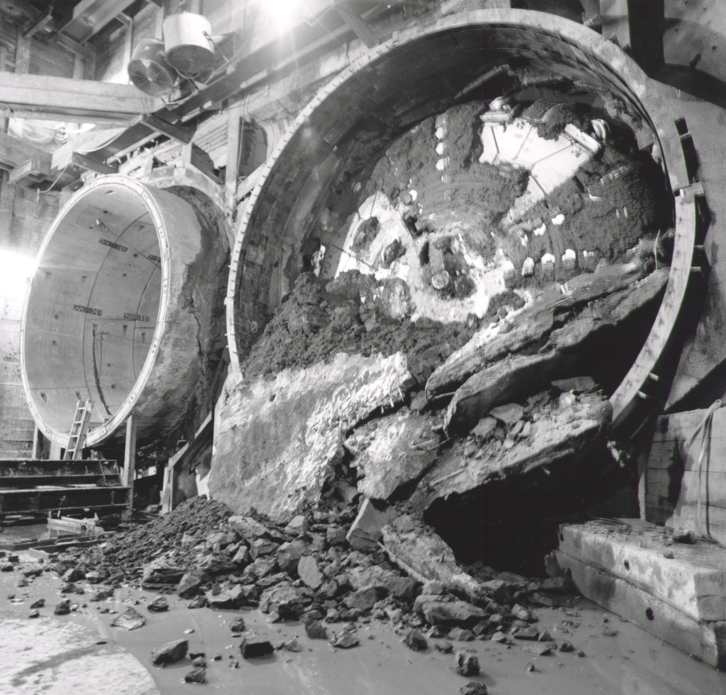 Tunnel Hole Thru - Below Flower St.  2018