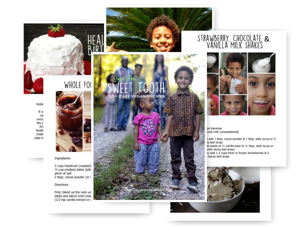 Sweet Tooth $20 - 55+ Easy Vegan Recipes (Sugar Free)