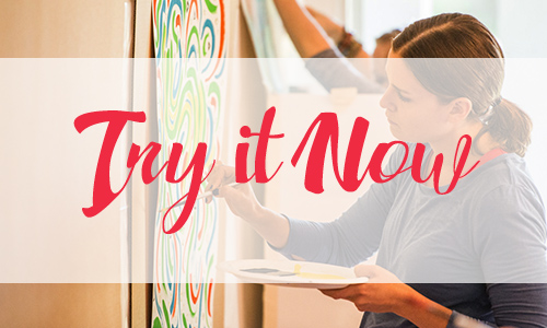 Click here  to feel the difference between making art as you know it, and creating from intuition. This exercise gives you a taste of what it means to access your muse. We all have one — meet yours!