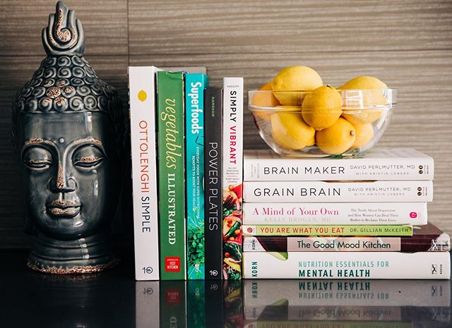 Here are some of my favorite books by esteemed doctors, researchers, and chefs that I use to guide my work in nutritional psychology.  Dr. David Perlmutter, Dr. Steven Gundry, & Dr. Kelly Brogan are remarkable doctors who challenge the traditional western model and have done impressive research to better understand the gut-brain connection.  They emphasize the importance of nutrition in preventing and healing ailments like Alzheimer's to depression (just to name a few)  Dr. Leslie Korn is my guiding light in connecting nutrition to psychology. Her books discuss extensively the connection of nutrition essential for mental health in for preventing, improving, and managing conditions.  Yotam Ottolenghi, Anya Kassoff, and Gena Hamshaw (just time name few) are amazing chefs that use superfoods and colorful ingredients that align with my values of simply just enhancing the flavors of ingredients and keeping things simple.  Let me know if this is helpful for you and if you'd like me to continue to share my resources with you!