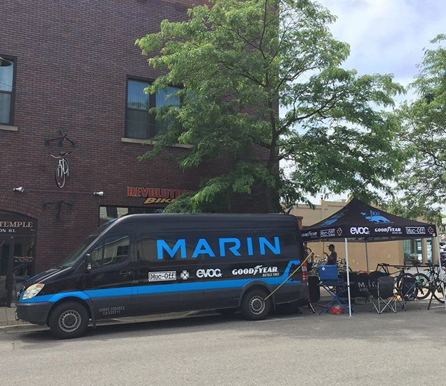 Stop on by Revolution Bike in Charlevoix, MI. We're demoing bikes, Evoc packs and Sena helmets along with a full selection of Muc Off goodies. #yourbestride #senahelmets #goodyearbike #mtbmichigan #marinbikes  #evocusa #mucoff #themitten
