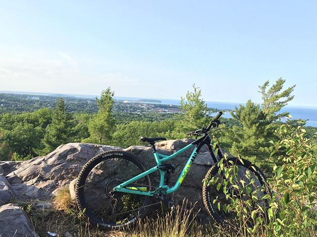 Thanks for the awesome Demo ride today in Marquette @quickstopbikeshop. Was one great ride #yourbestride #mucoffbike #marinbikes #senahelmets #goodyearbike #evocusa #radtrailsintheUP