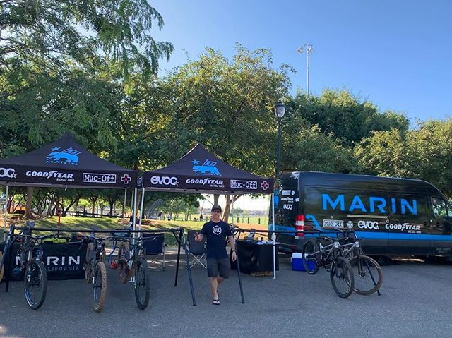 We had a lot of fun at the Chico Sports LTD demo last night. Now on to the Downieville classic. See you guys there. #yourbestride #marinbikes #allthetraction #goodyearbike #senahelmets #evocusa #mucoff #californiadreamin