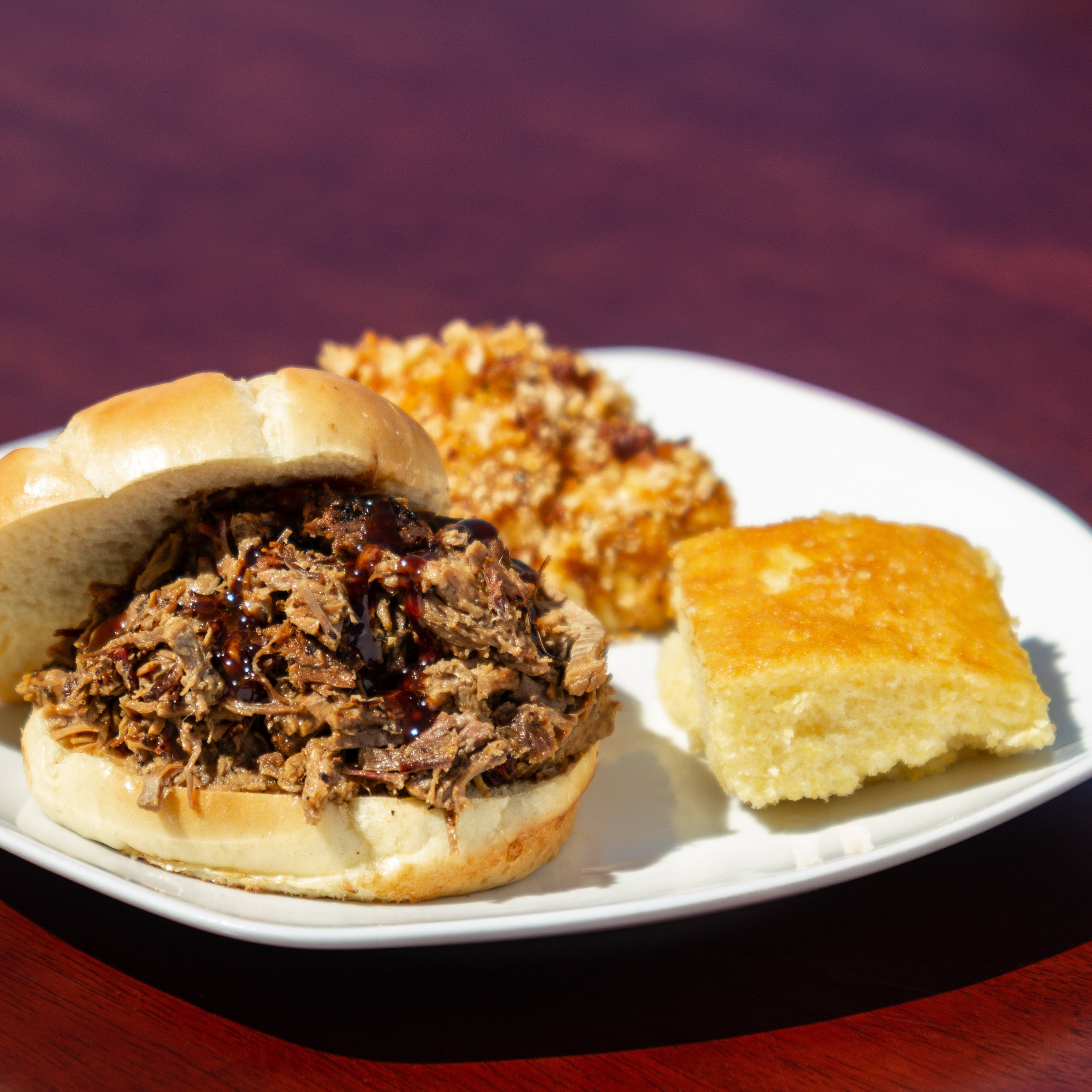 Slow Smoked to Perfection    Chopped Brisket Sandwich!