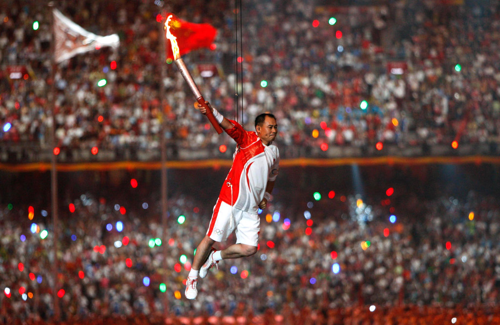 Li Ning in 2008 Beijing Olympic Games Opening Ceremony