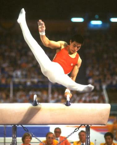 Li Ning won three gold medals in 1984 Los Angeles Olympic Games