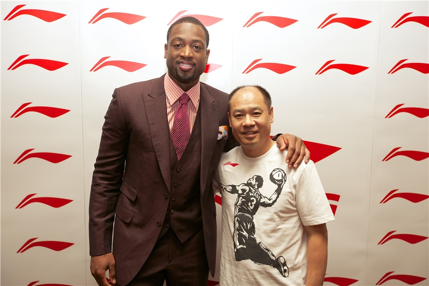 Li Ning signed 3-time NBA Champion, 13-time All-Star, 2008 Olympic gold medalist Dwyane Wade in 2012