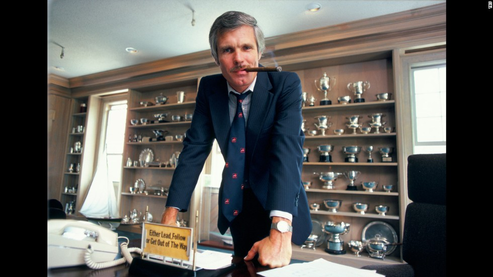 Who started the 24hr news cycle? - This profiting motherfucker right here. Ted Turner. He knew what he was doing.