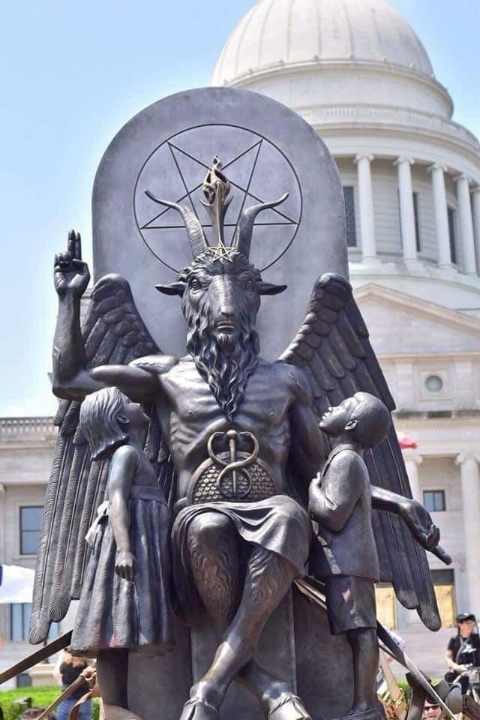Arkansas City Hall - Who knew that Arkansas was so into Baphomet? What a bunch of edge lords!