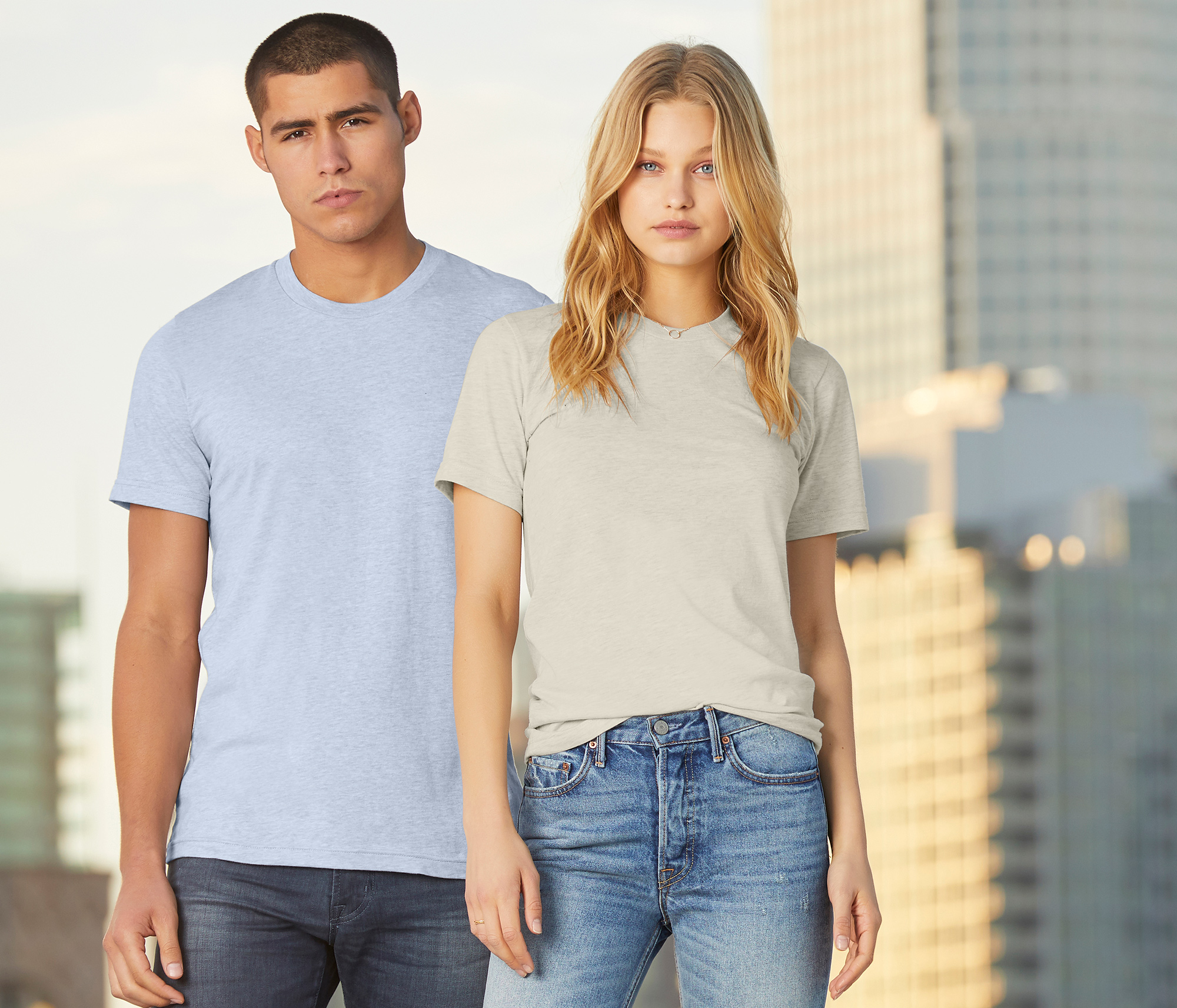 Bella+Canvas Unisex Heather CVC Jersey Tee - 3001CVC