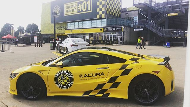 The @columbuscrewsc #NSX will be on display this Sat at #daytoncarsandcoffee thanks to @superioracuradayton. #columbuscrew #columbuscrewsc #acuransx #acura #daytoncarsandcoffee #daytonstrong #d8nstrg #carsandcoffee