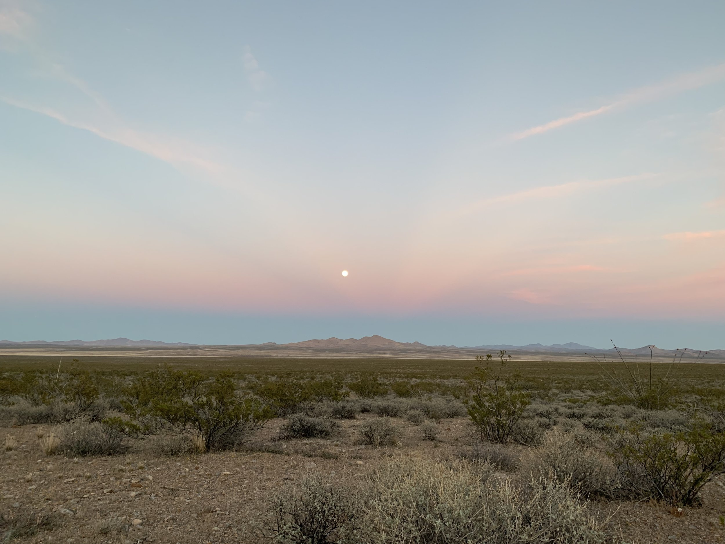 Update 4/21/19 - It's been a good first stretch so far but I've arrived in Lordsburg, NM with plenty of blisters and only a McDonald's for a meal. Yep, I did it. McDonald's. Worth it though, to catch some beautiful views. I wish I was able to accurately capture the stars of the night!
