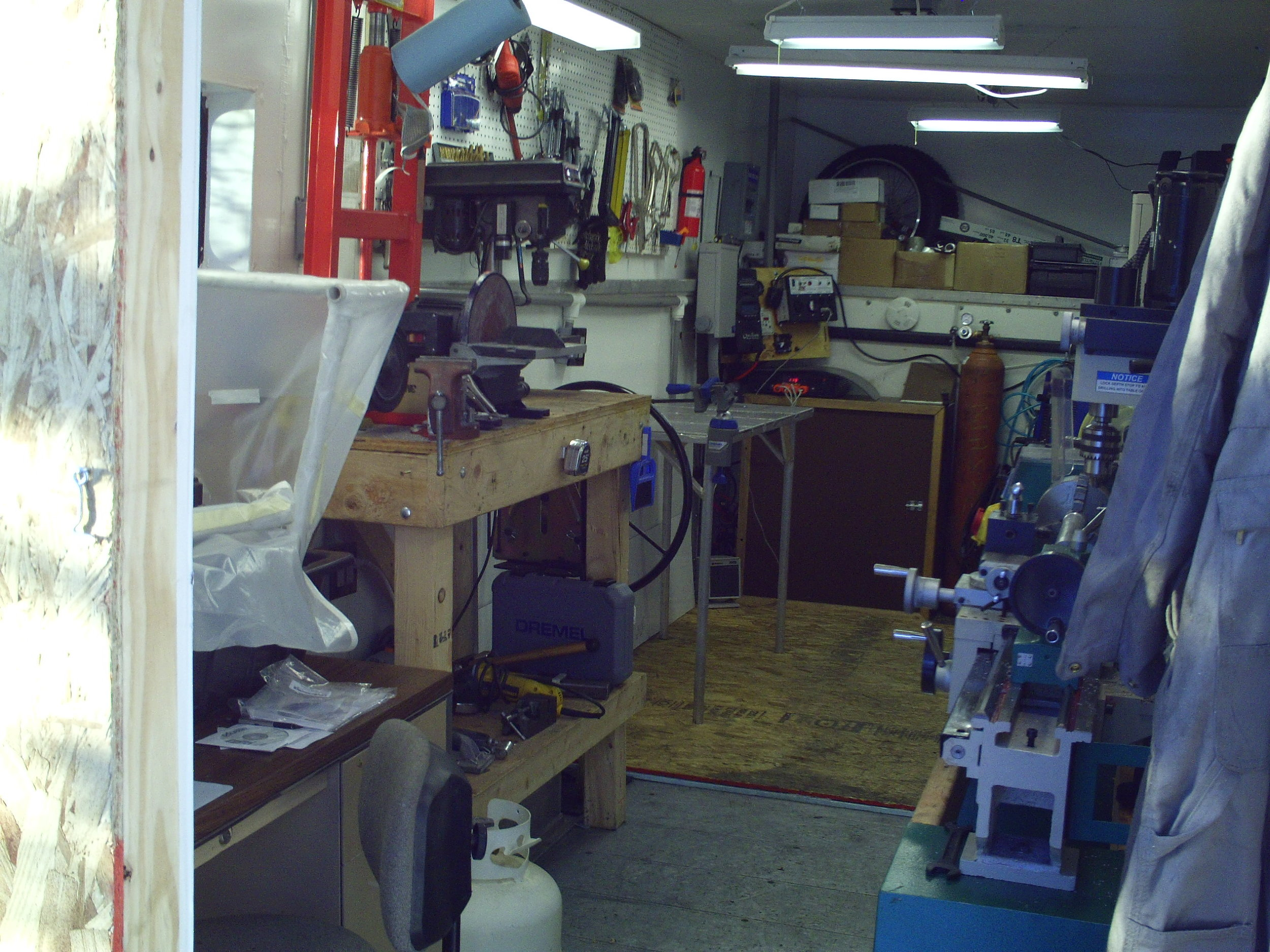 It was a little cramped, but with enough patience, I could build nearly anything in there. The new shop will be a little smaller but hopefully, more capable due to the larger multi function DIY CNC. I definitely miss my Grizzly G0516 manual mill/lathe combo though!