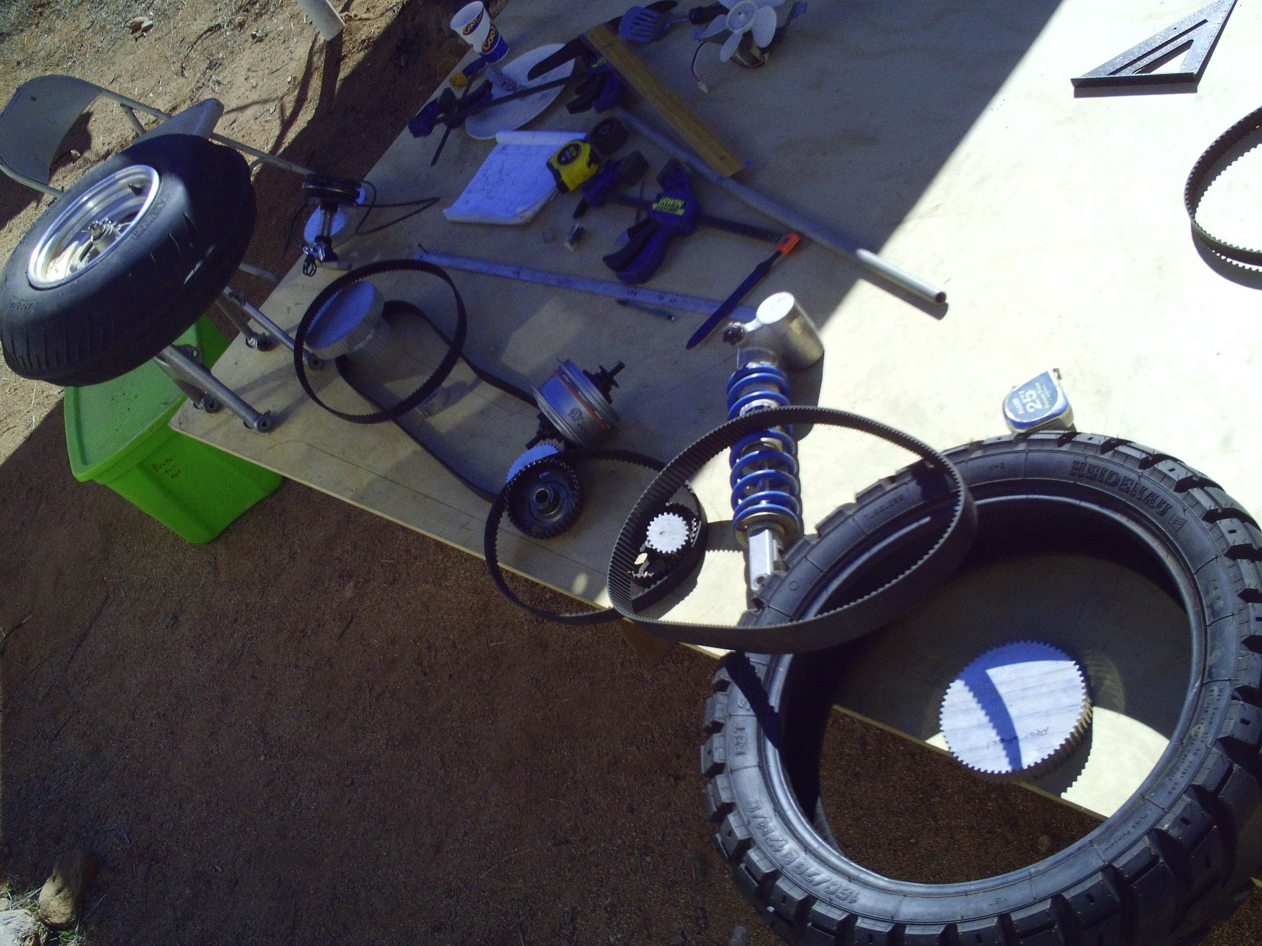 Camper Trike Drivetrain Layout