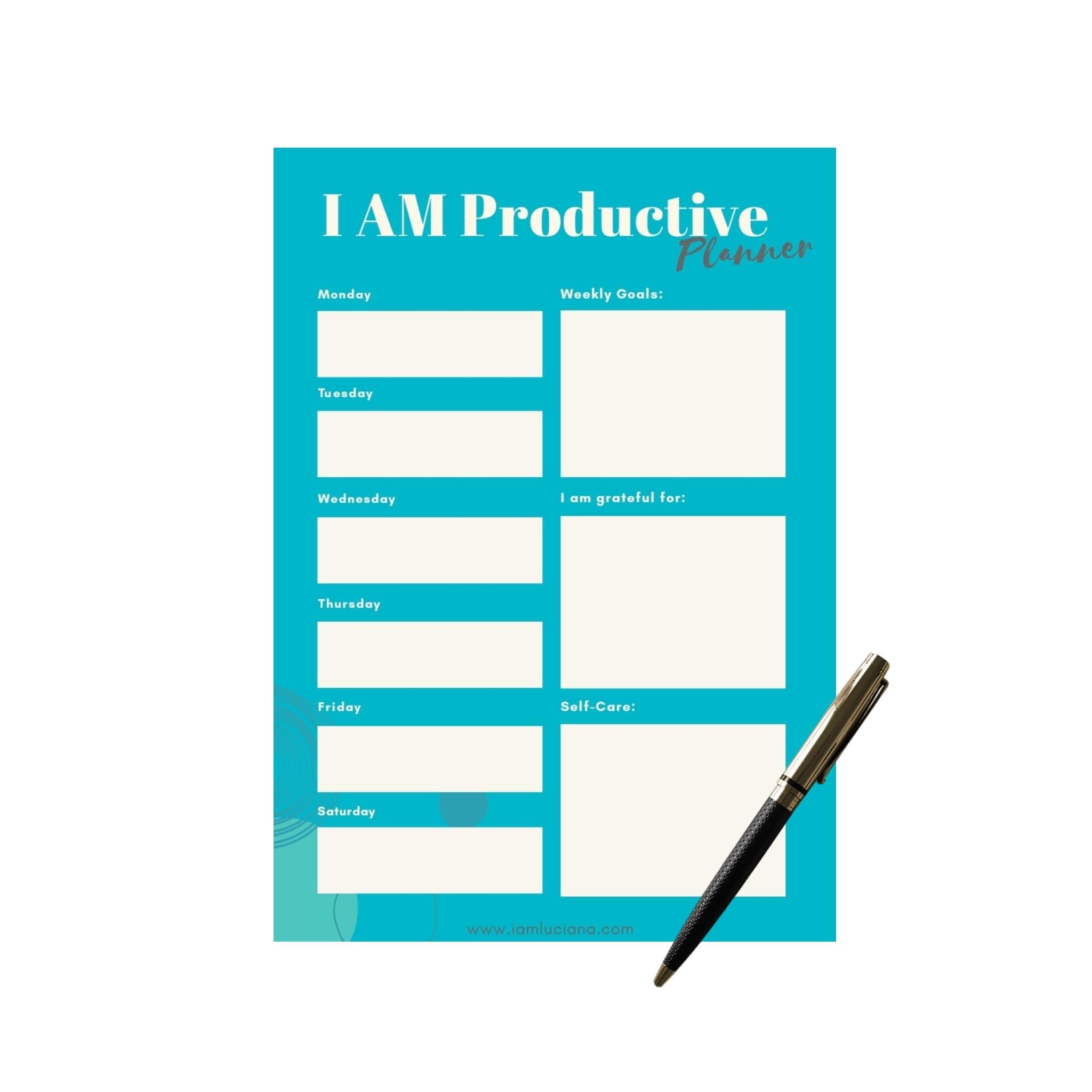 I am productive planner pen.jpg