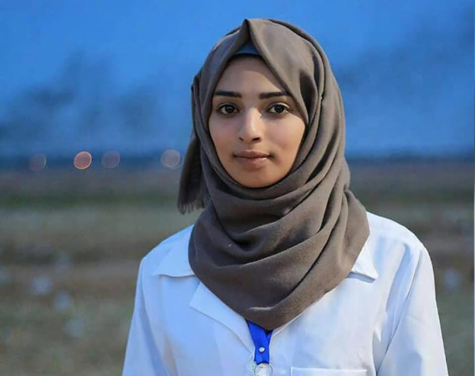 On International Working Women's Day, we honor Razan al-Najjar, a 21-year old Palestinian medic who was martyred in Gaza on June 1, 2018 when she was shot in cold blood by an israeli sniper while providing emergency care to wounded protesters taking part in the Great Return March. Allah Yerhama! As long as Palestinians have been struggling for national liberation, Palestinian women have been on the front lines of the intifada while holding up half the sky. Razan embodied this legacy and while we mourn her death, we celebrate her memory, her revolutionary spirit and her service to our people's struggle up until her last breath.