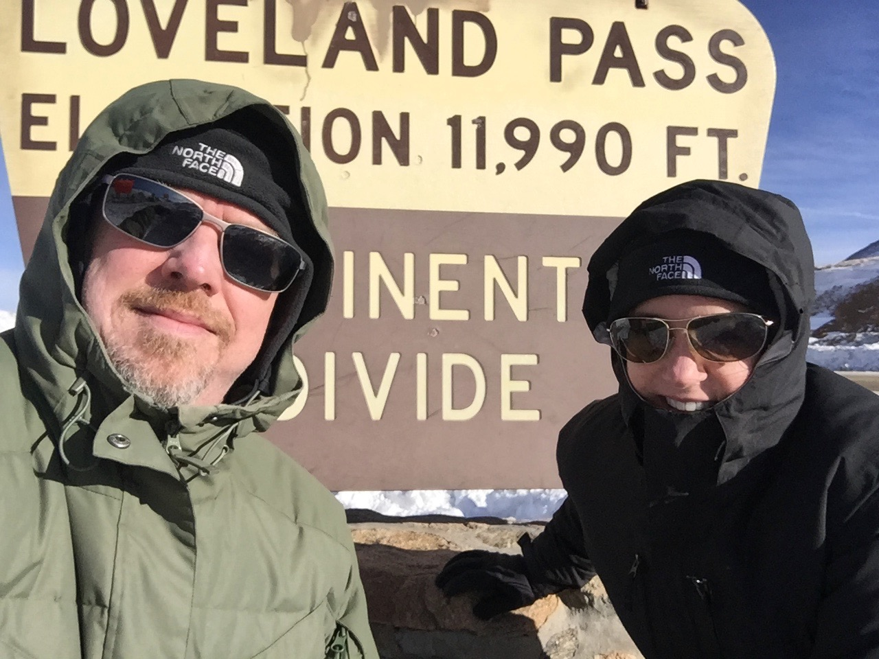 Dr Marks and wife Mary at Continental Divide