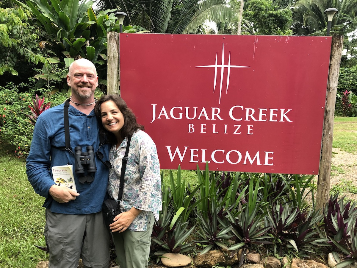 Dr Marks and wife Mary in Belize
