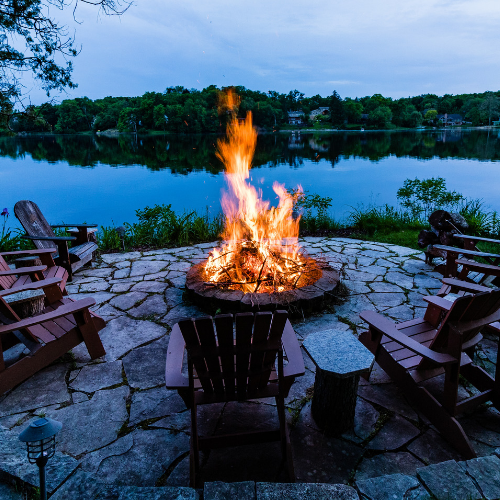 Ryan Tree and Landscape Flagstone FirePit