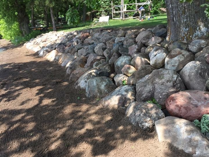 Boulder Wall Landscaping by Ryan Tree & Landscape Service