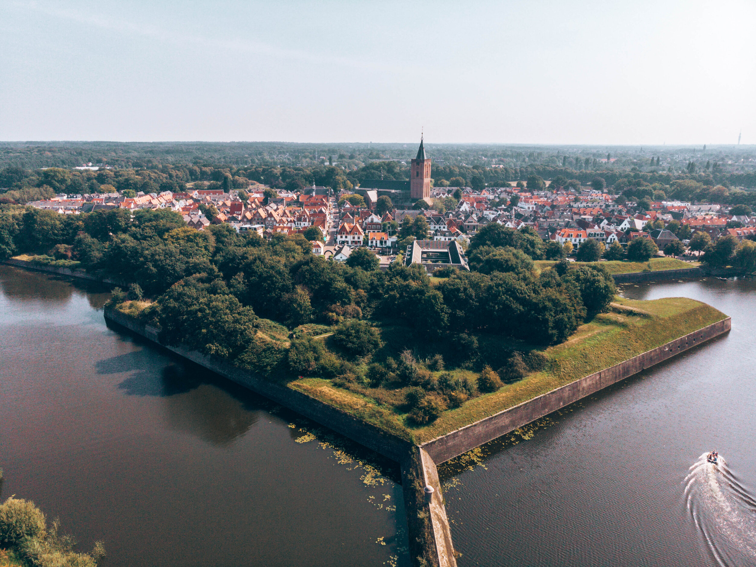 Drone SHot Naarden Vesting Low Travel drone photography guide for beginners