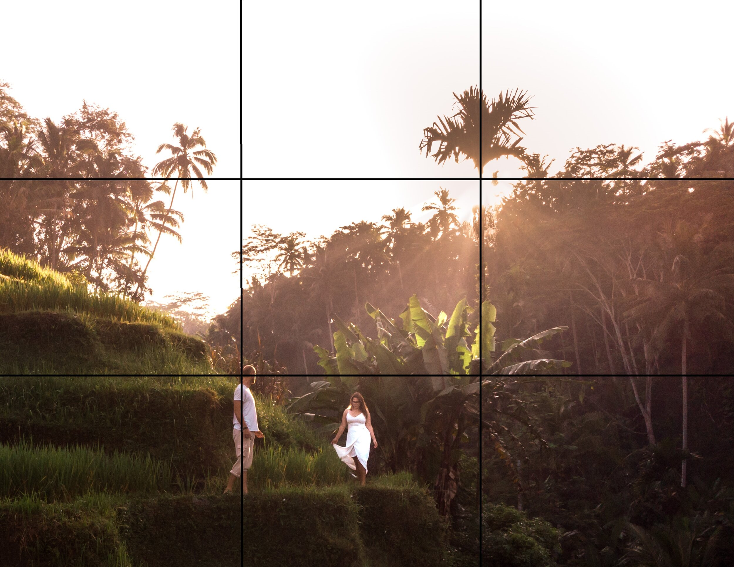 Rule of Thirds Grid Bali Travel drone photography guide for beginners