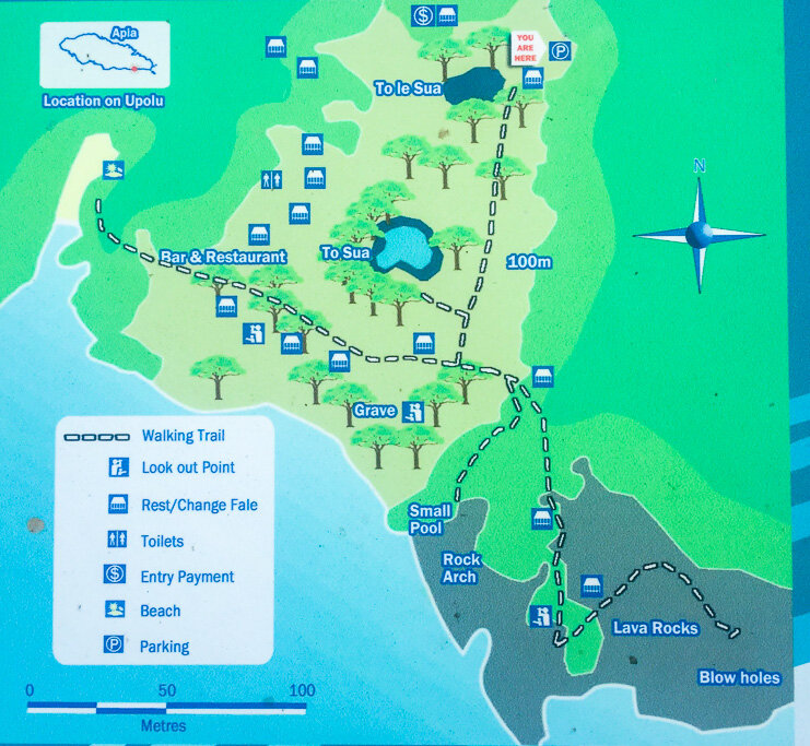 Overview map To Sua Ocean Trench