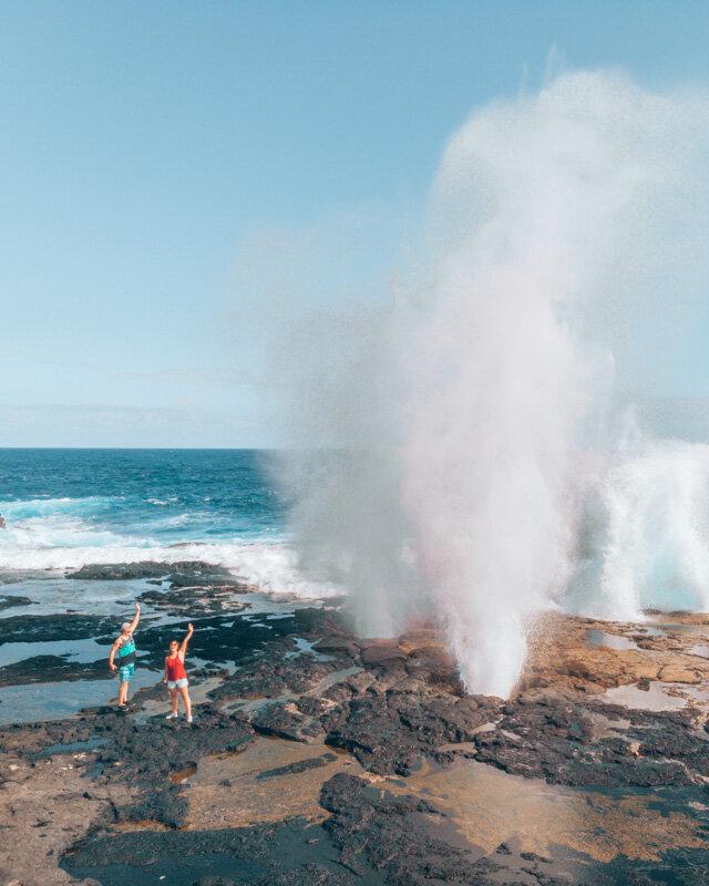 Alofaaga Blowholes Best Thing on Savai´i Samoa