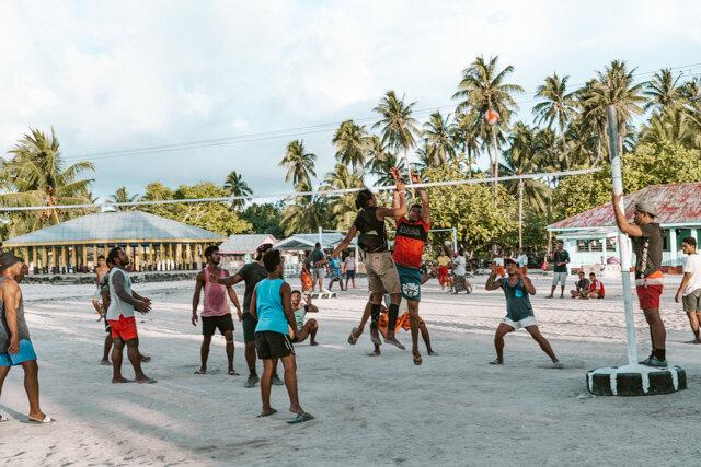 Volleyball Falealupo Beach Best Things on Savai´i Travel Samoa