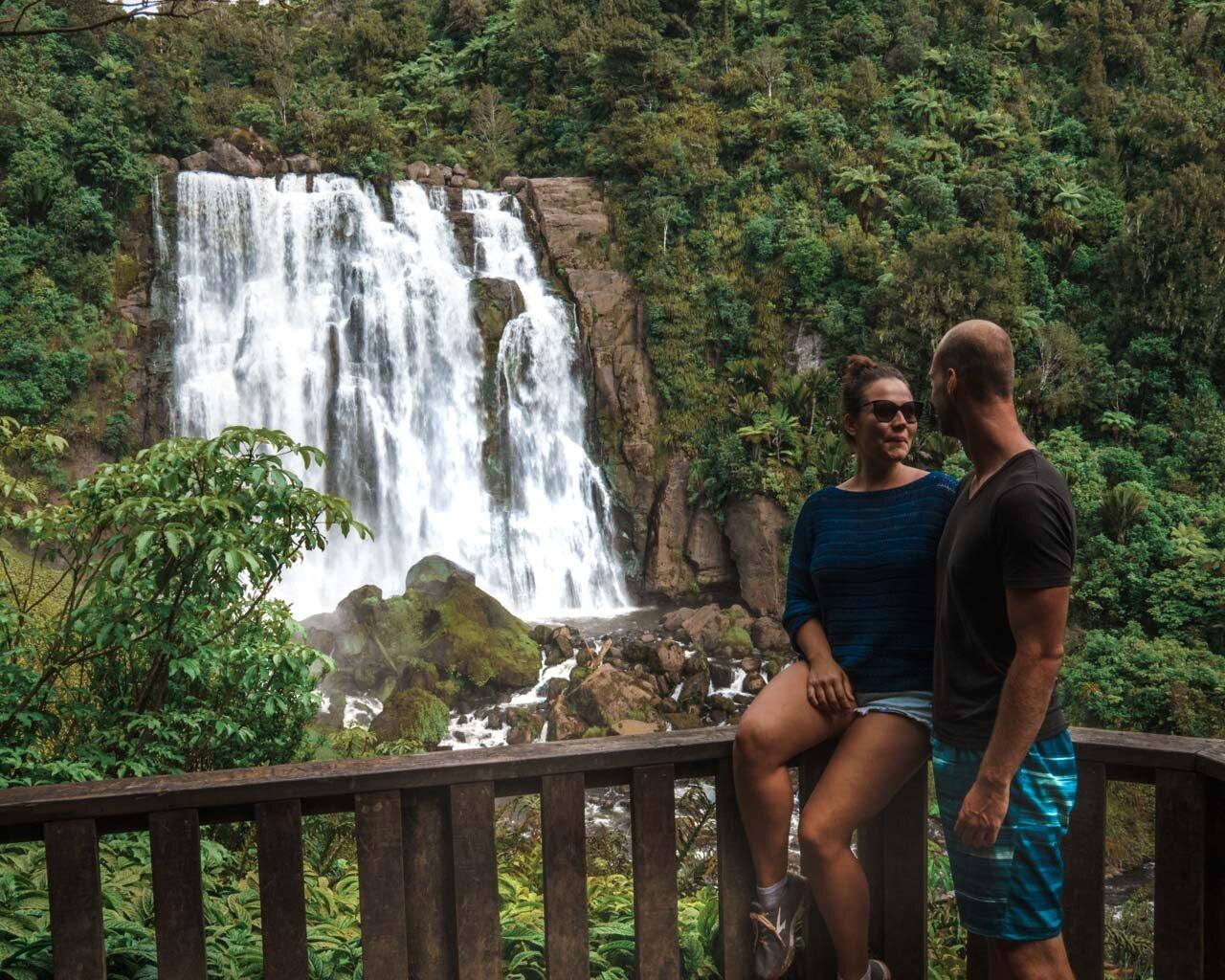 Marakopa Falls Platform Best Waterfalls Travel New Zealand