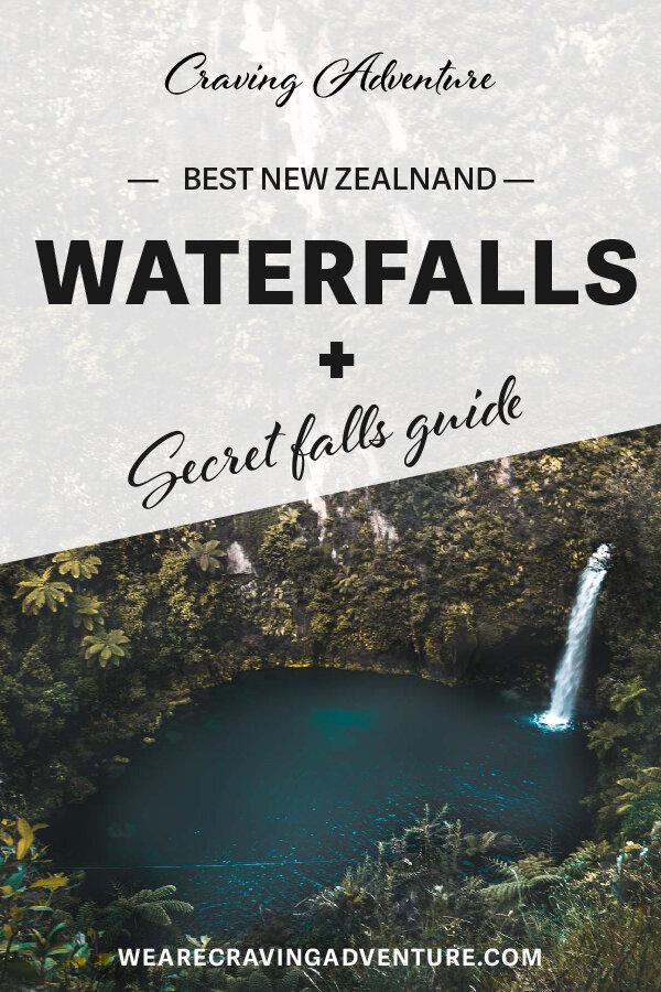 NZ best waterfalls -  Omanawa falls secret waterfall
