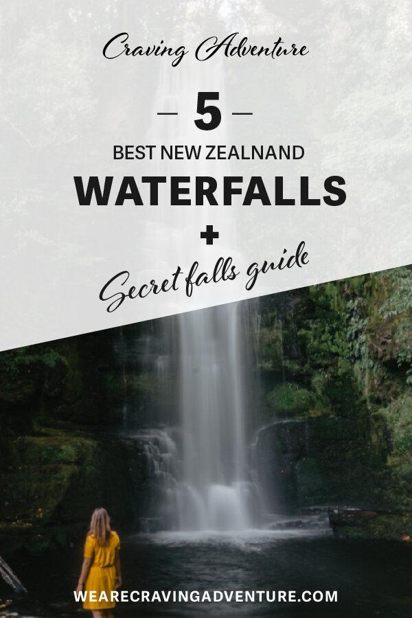 NZ best waterfalls - McLaren Waterfall Catlins New Zealand