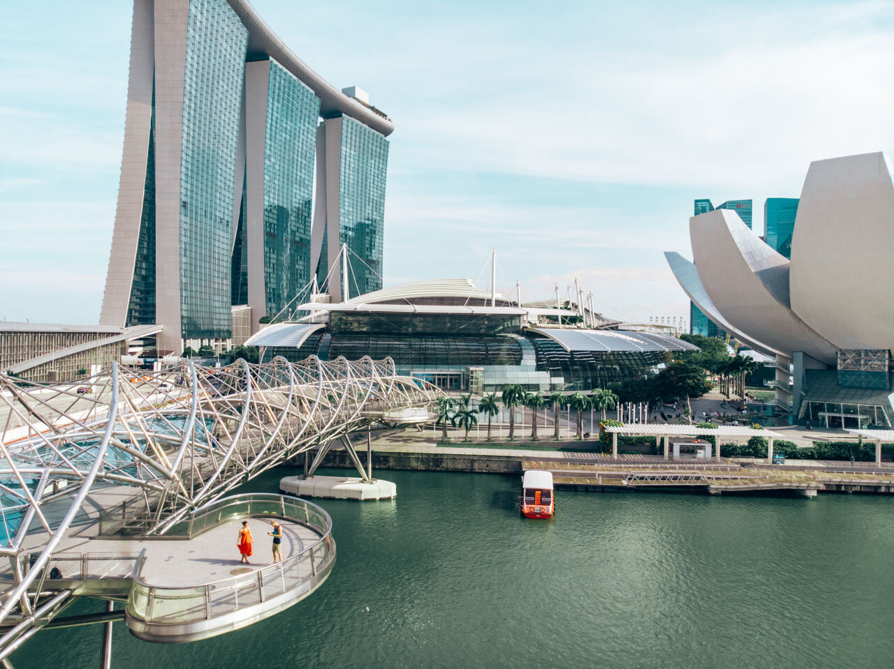 Helix Bridge Marina Bay Singapore 3 day itinerary