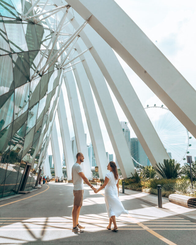 Flower Dome Gardens by the Bay Singapore 3 day itinerary