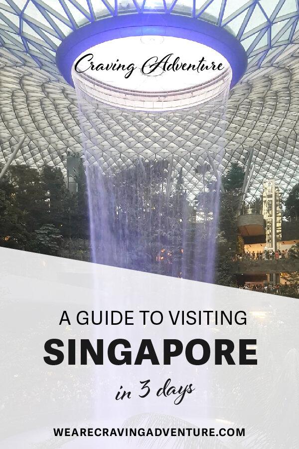 Jewel Changi Airport Waterfall Singapore 3 day itinerary travel