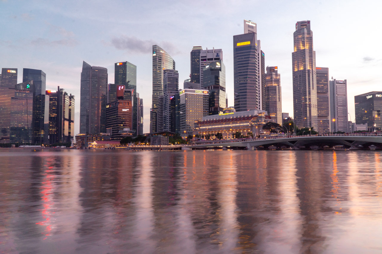 Singapore Sunset Skyline Singapore 3 day itinerary travel