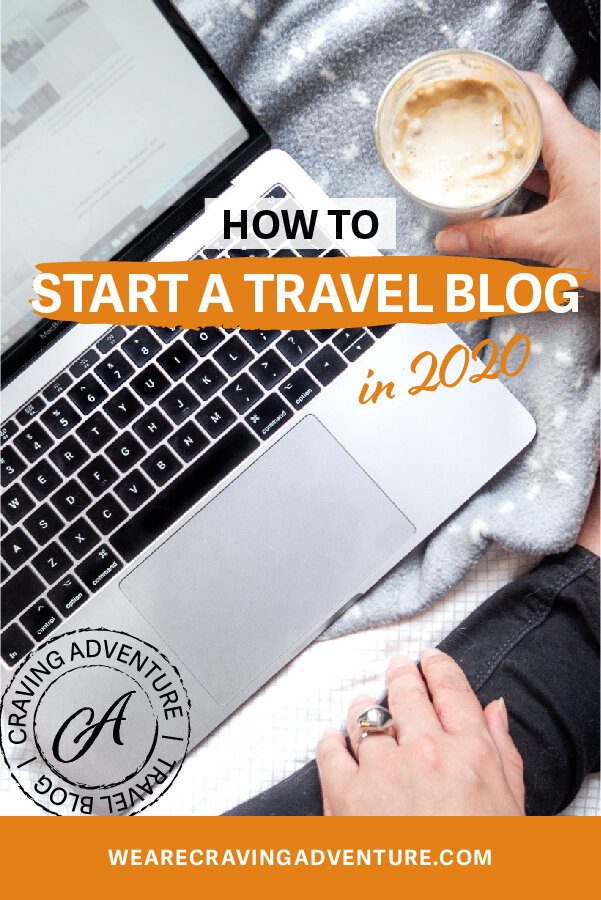 Laptop mockup  How to start a travel blog guide