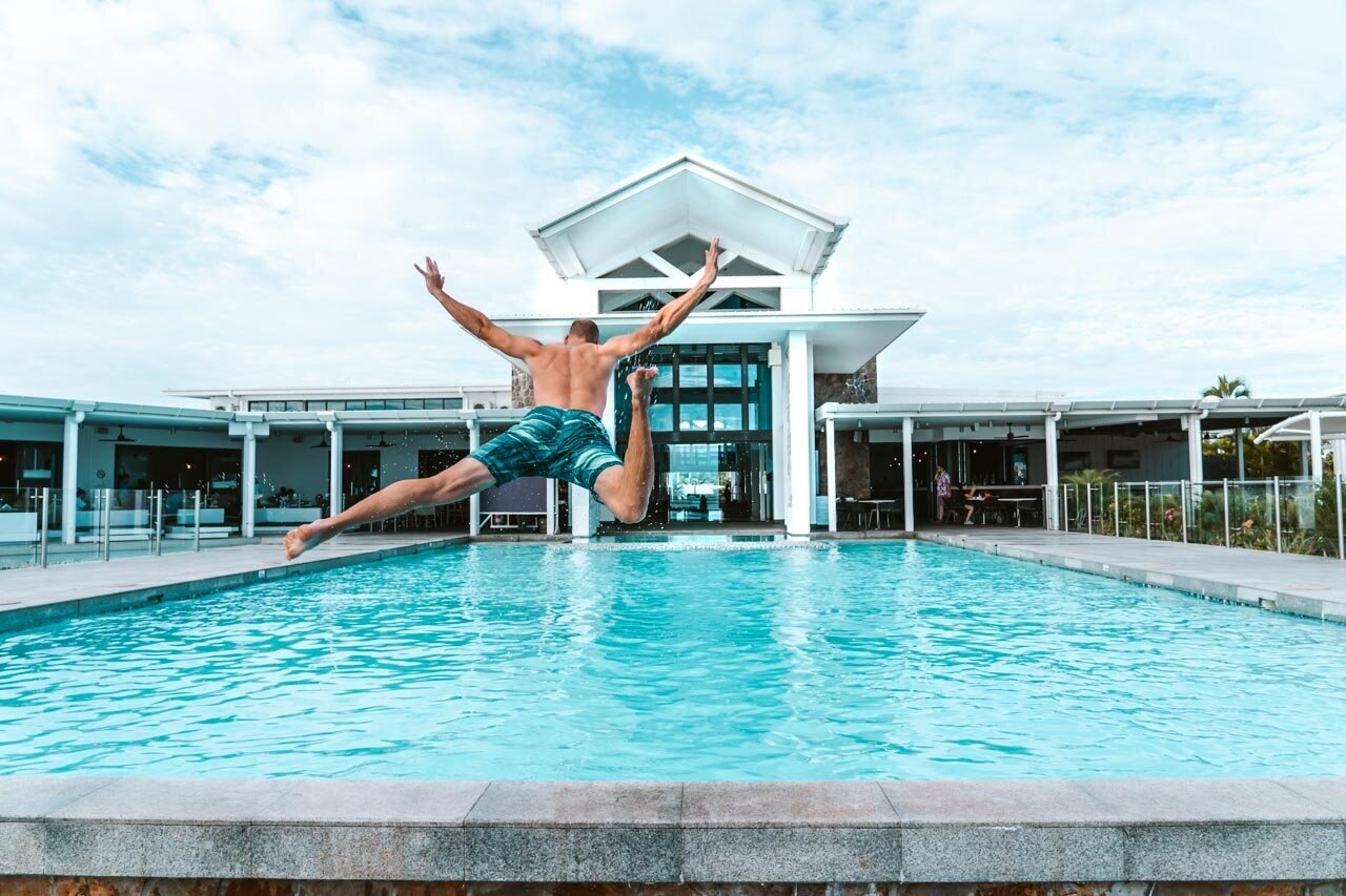 Top things to do in Samoa - jump in the pool